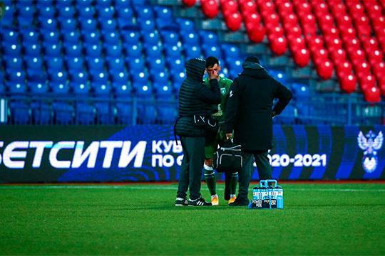 Травма хавбека «Рубина» Йевтича в матче Кубка России против «СКА-Хабаровска» стала даже более тревожным моментом, чем само поражение казанцев и вылет из турнира
