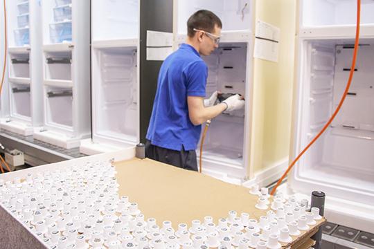 Если сложить все холодильники, которые будут производиться вТатарстане, получится 1,5млн единиц ежегодно
