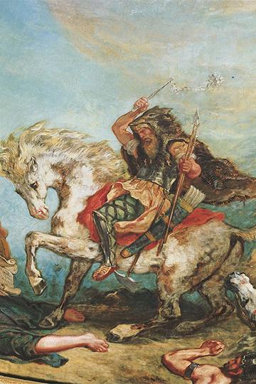 Известно, когда Атилла догнал своих сородичей, они стояли без войны 43 года навысоком берегу Дуная наместе современного Будапешта. Атиллу делают королем гуннов
