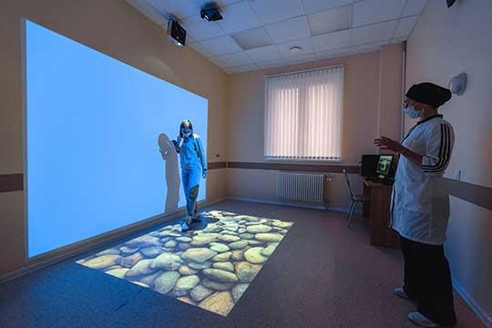 В курсе реабилитации используют кабинет виртуальной реальности для нормализацииэмоционального статуса