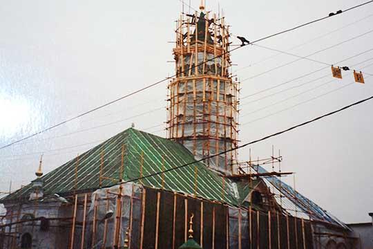 Реставрация минарета, 2003 год