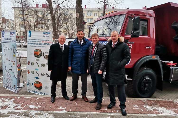 Олег Коробченко презентовал свою группу компаний «Кориб» главам муниципалитетов и предпринимателям Башкортостана. «Башкиравтодору» был торжественно передан отремонтированный грузовик