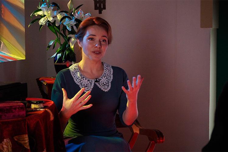 Екатерина Гусева: «Я благодарна этому фильму за то, что мне удалось побывать в Богородицком мужском монастыре, поклониться и приложиться к иконе Казанской Божьей Матери»