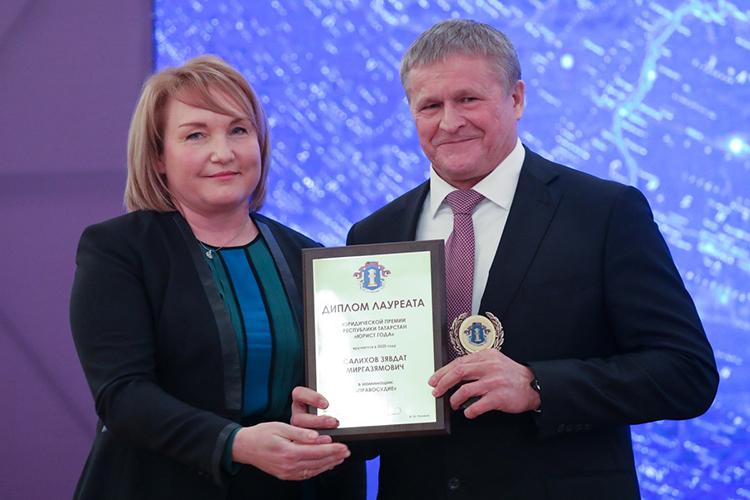 В номинации «Правосудие» вэтом году победил начальник управления Судебного департамента РТЗявдат Салихов