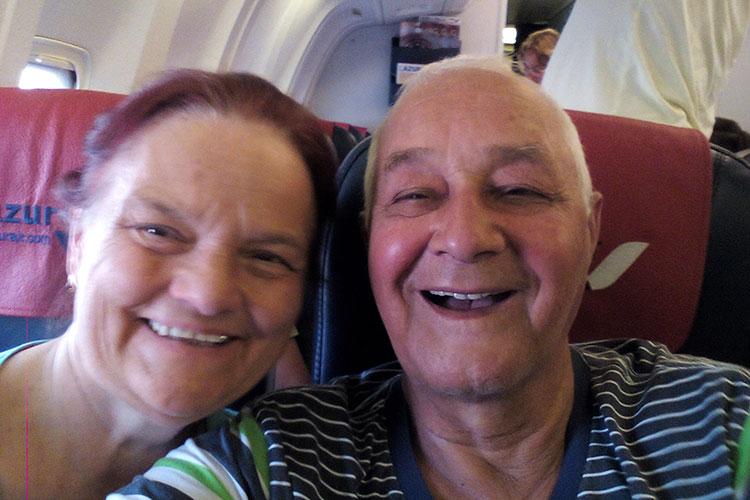 С женой Фирдаус