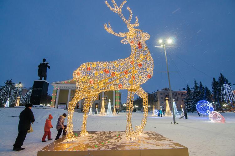 ВАльметьевске решили удивить горожан новыми новогодними площадками иинсталляциями, объединенными общим маршрутом
