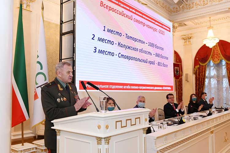 Александр Бородинпожаловался намалочисленность юнармейцев вКазани. Вряде крупных школ, поего словам, вообще нет отрядов движения