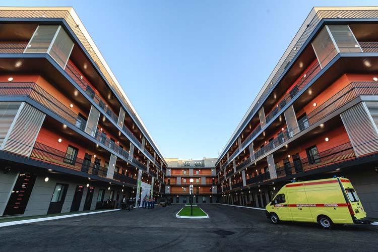 Серьезное достижение— строительство за100 дней нового корпуса инфекционной больницы
