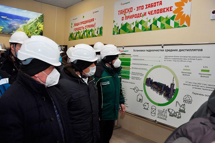 В ходе визита на ТАНЕКО Минниханов ознакомился с ходом строительства других производственных установок