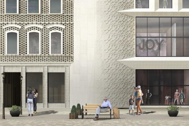 «Проработали кусочки фасадов внатуральную величину, поработали над деталями, углом здания состороны перекрестка улиц Бутлерова иПушкина»