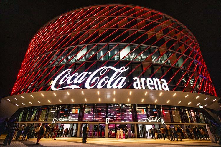 Coca Cola Arena в ОАЭ – один из зарубежных объектов, чей опыт анализировали в Казани. Арена рассчитана на 17 тысяч мест и принимает концерты, форумы, церемонии и конференции