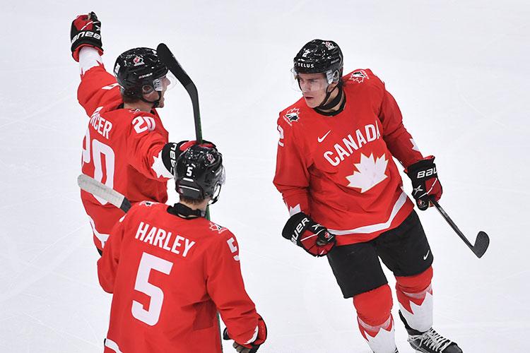Канада не только забила три быстрых гола, но и следующие 40 минут спокойно контролировала игру