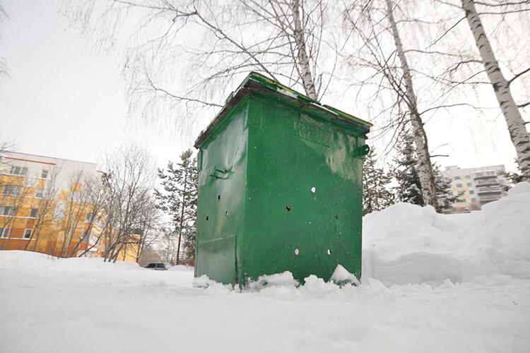 Пластиковых мусорных баков в городе нетак ужимного. Восновном встречаются металлические баки, причем как возле школ, так ивозле частных организаций, например около медицинского центра