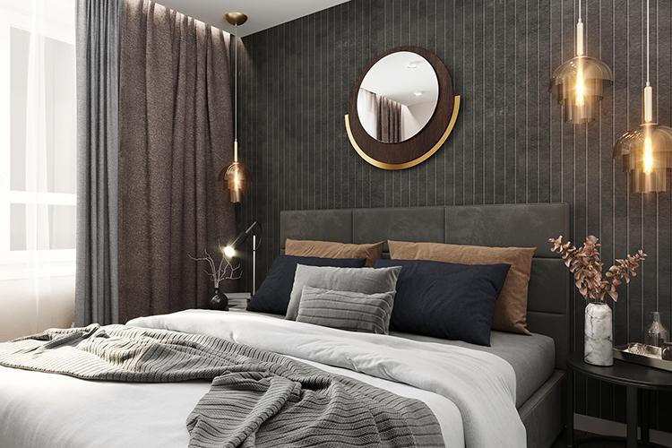 Еще одно современное решение— практически вовсех однокомнатных квартирах есть спальня