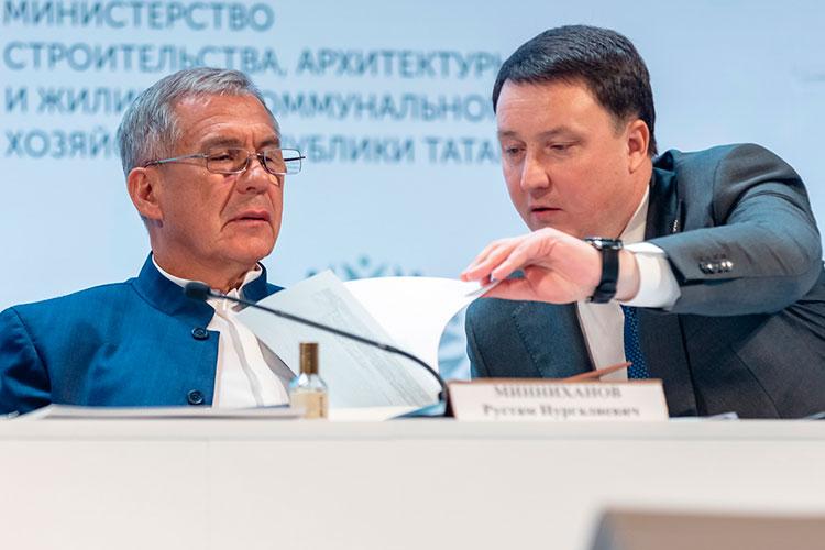 Рустам Минниханов (слева):«Ограничения потарифам ограничивают инвестиционные возможности поставщиков»