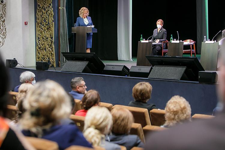 Основной докладчицей коллегии стала сама Аюпова, которая подвела итоги для культурной среды республики за2020год