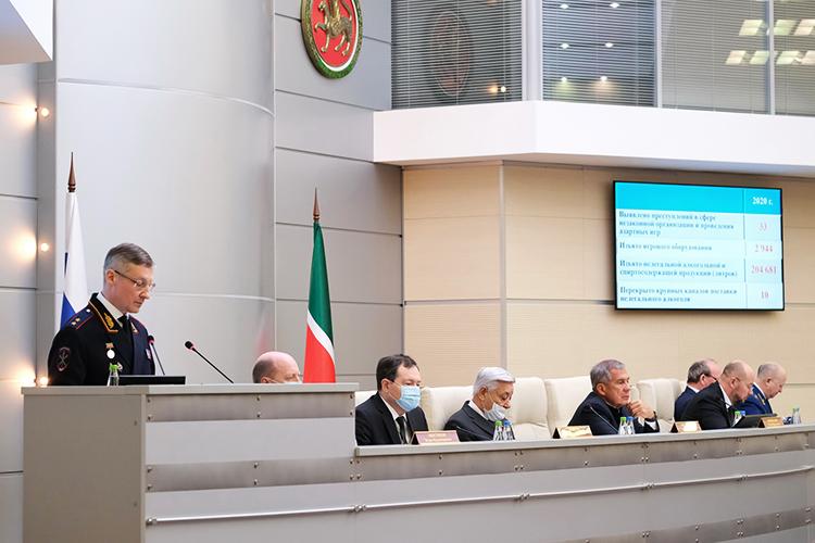 Одна из главных тем выступления главы МВД по РТ Артема Хохорина — состояние организованной преступности