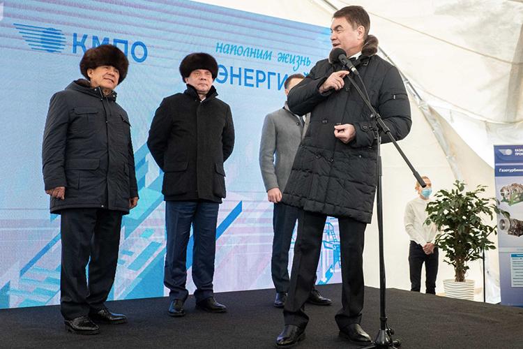 Дамир Каримуллин сообщил, что монтажные ипусконаладочные работы нагазотурбиннойустановке уже проведены, начались испытания