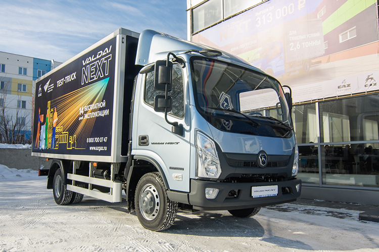Новый «Валдай NEXT» вмодельном ряду ГАЗ расположился между «ГАЗель Next» сполной массой 4,6 тонны ибольшим грузовиком «ГАЗон Next» массой до8,7 тонны, полностью перекрыв запросы потребителей