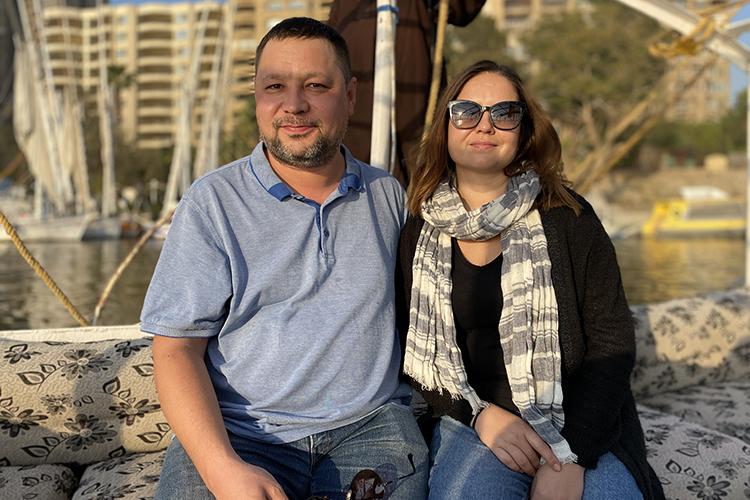 Юлдаш Ягфаров и его супруга Лейсан Амирханова. Каир. Февраль, 2021 г.