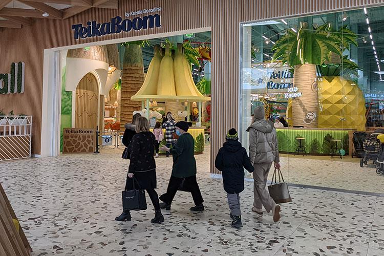 На втором этаже рядом с фудкортом открылся семейный активити-парк Teika Boom от телеведущей и бизнесвуман Ксении Бородиной