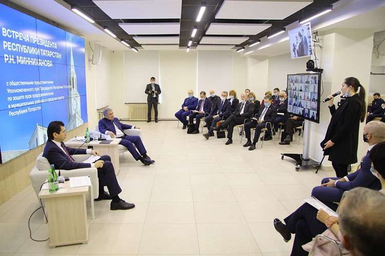 Новый формат общения сбизнесом опробовал сегодняпрезидентРТРустамМинниханов