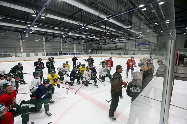 «АкБарс» провел открытую для журналистов ледовую тренировку перед финалом Восточной конференции Кубка Гагарина