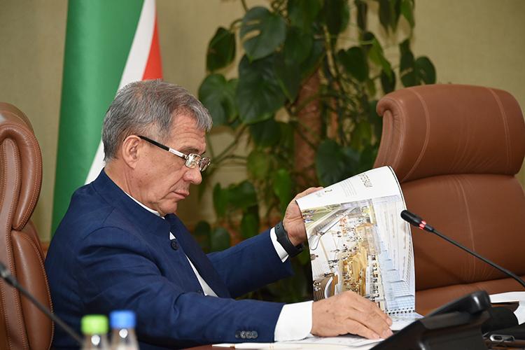 Проект построительству жилого комплекса «Манзара» представила президенту Татарстана Минниханову ГК«Эталон»