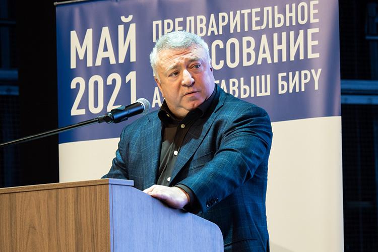 Первым кизбирателям обратился депутат Богуславский:«23 года назад мыпришли напредприятие, которое было банкротом, асегодня это большая группа, лидер российского рынка, выэту продукцию знаете посвоему домашнему хозяйству»
