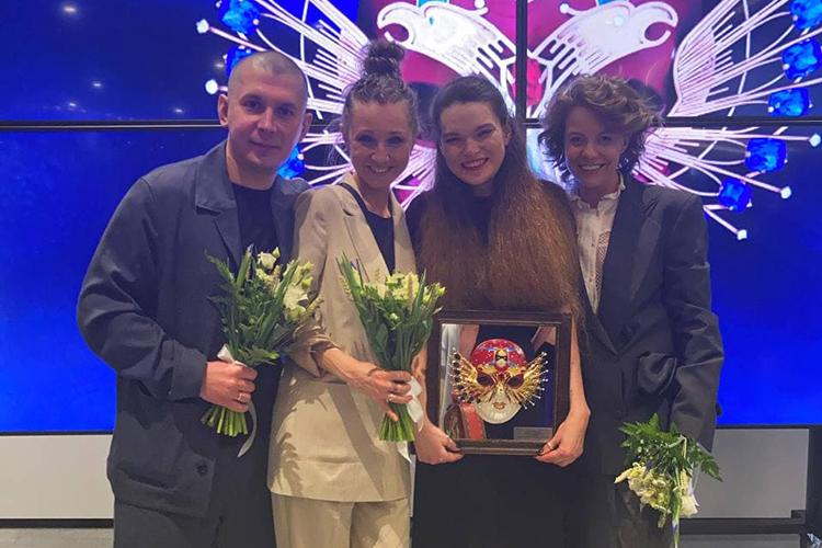 Творческая лаборатория «Угол»:Родион Сабиров, Ангелина Мигранова, Дина Сафина и Инна Яркова (слева направо)