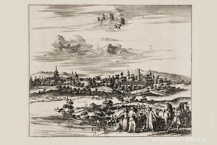 Гравюра г. Касимов. 1719 г.