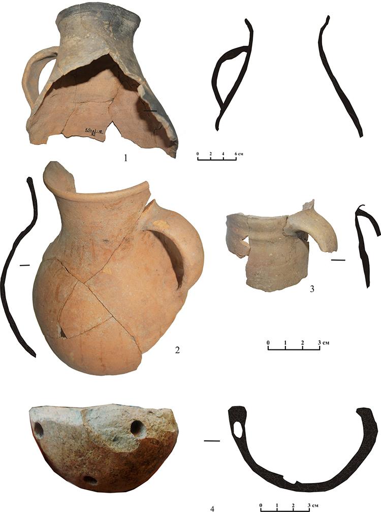 Керамика в болгаро-ордынских традициях из раскопок на Старом Посаде г.Касимов