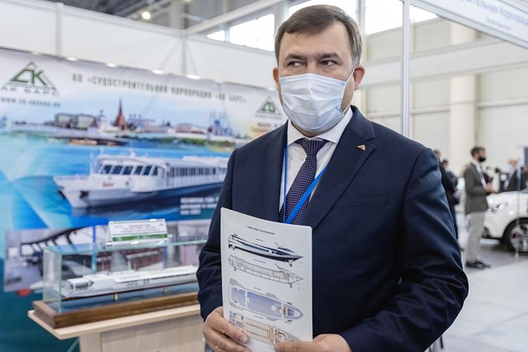 Первое место нашего рейтинга стальной хваткой удерживает генеральный директор судостроительной корпорации «АкБарс» (СКАБ)Ренат Мистахов