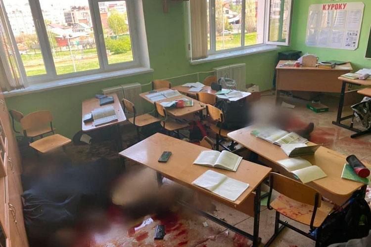 Навсю кровавую бойню Галявиев потратил менее 10-минут. После чего спустился вфойе гимназии