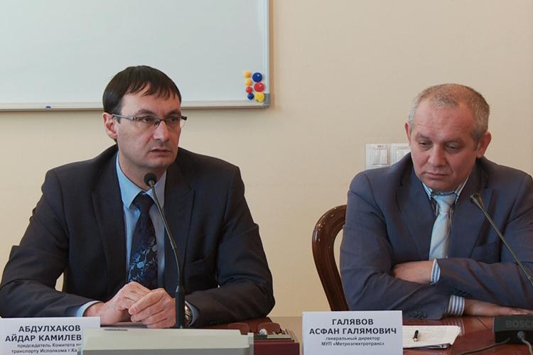 Асфан Галявов (справа) ушел с поста генерального директора муниципального унитарного предприятия «Метроэлектротранс» по собственному желанию