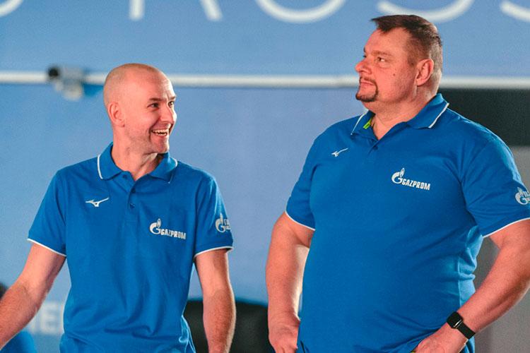 Впервые за 15 лет «Зенит-Казань» остался без медалей чемпионата России и расстался с Алекно (справа)