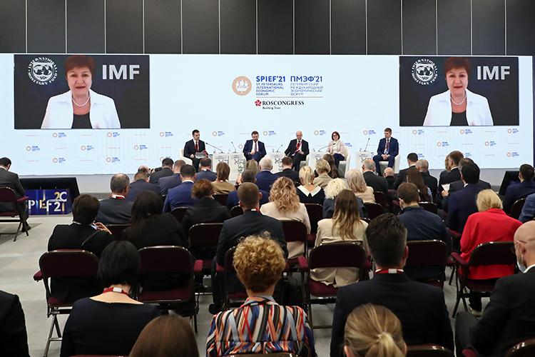 КристалинаГеоргиева свосхищением отметила, что экономическая политика вРоссии входе пандемии была очень своевременной ирешительной