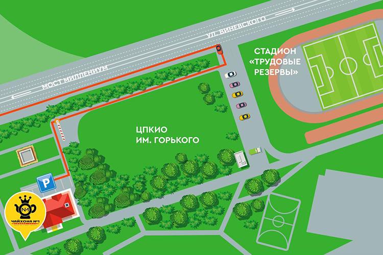 «Чайхона №1» открылась всамом сердце парка им.Горького— напротив фонтанов ивокружении вековых деревьев