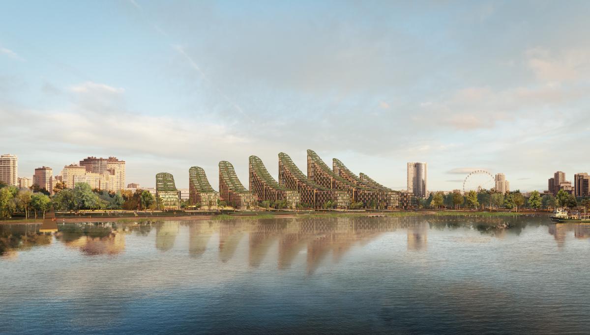 Профессиональные архитекторы больше «голосуют» заиспано-британскую концепцию— его предложила студия Borgos Pieper (Испания—Англия)