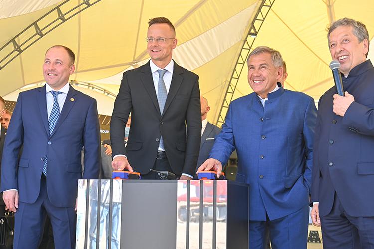 НаТАНЕКО накануне дали старт строительству новой установки— попроизводству резиномодифицированного битума.— совместный предприятия «Татнефти» ивенгерской MOL Group