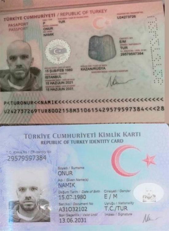 В чатах активно муссируется фотографиятурецкого паспорта слицом Доронина иименем «Onur Namik». Отом, что Доронин якобы получил турецкий паспорт, также заявил известный блогерАндрей Алистаров, сославшись насобственные источники