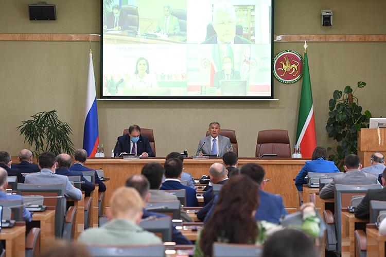 Сегодня вкабмине РТпрошло очередное заседание инвестиционного совета РТсучастием президента РТРустама Минниханова
