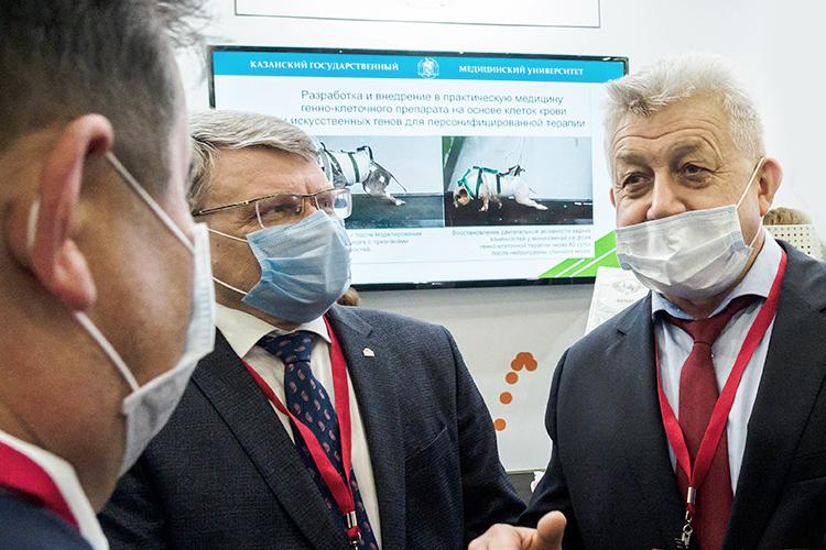 Ректор КГМУ Алексей Созинов (слева) и ректор КГАСУ Рашит Низамов (справа) готовы исполнить предписание Роспотребнадзора