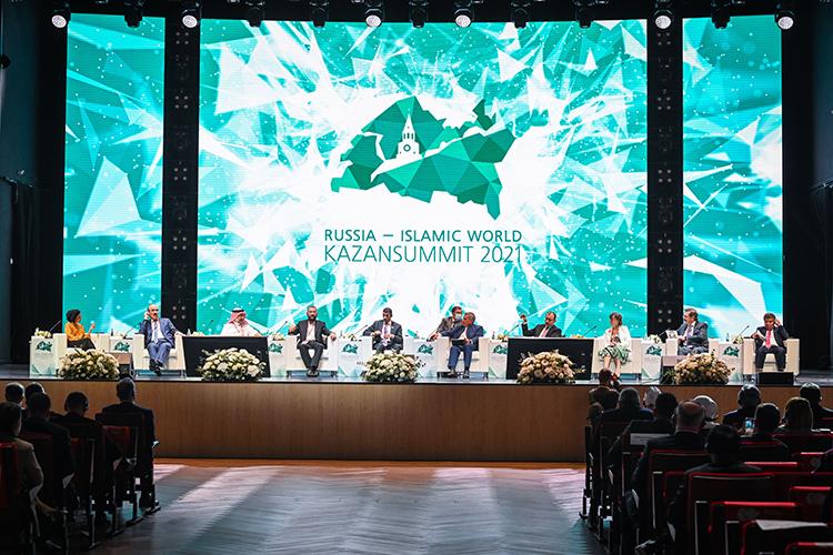 Взавершениевстречи навидеосвязь сзалом вышел председатель всемирного Дня халяльМухаммед Джинна. Онрассказал, что следующее мероприятие всемирного Дня халяль состоится вКазани