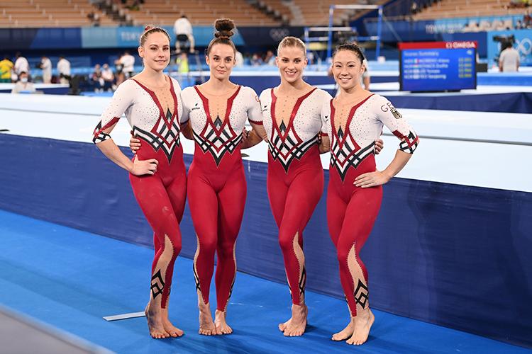 Сборная Германии поспортивной гимнастике выступила натокийской Олимпиаде взакрытых комбинезонах, отвергнув традиционные открытые купальники