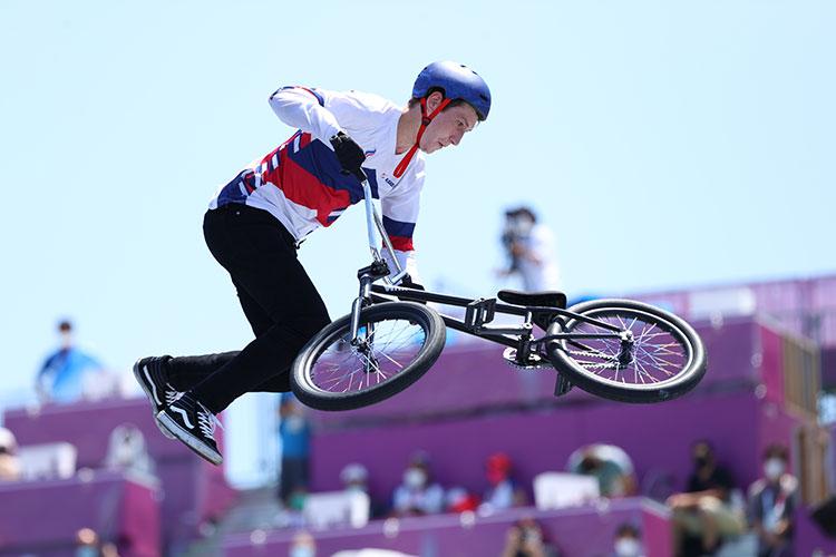 Ирек Ризаев во время Олимпийских игр в Токио-2020 в парке городского спорта Ариаке в Токио