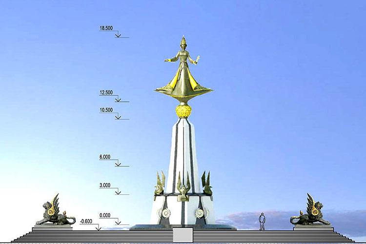 Сам художник настаивал наогромном 18-метровом (сучетом постамента) памятнике врайоне Кремля, властиже предлагали другие площадки, ктомуже, при условии уменьшения масштабов сооружения вразы
