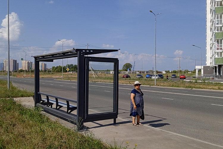 Уже сделаны нетолько подъездные карманы для остановок, ноиустановлены сами остановочные павильоны. Они изготовлены изжелеза, но крыш, защищающих пассажиров отдождя или солнца, наних поканет