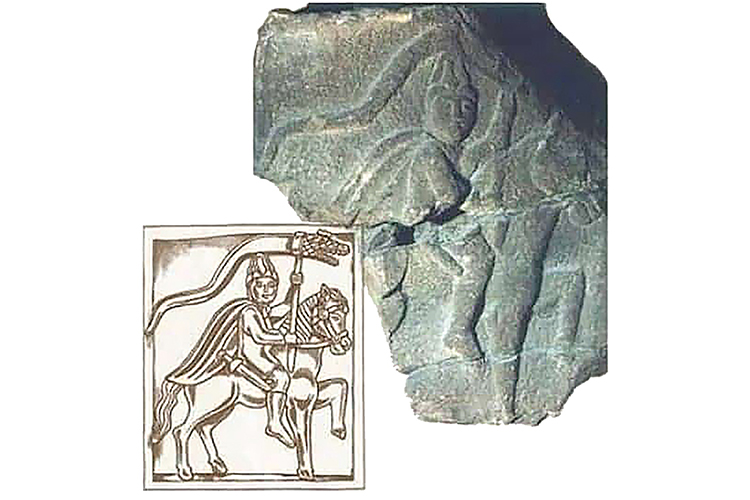 Рис.1 Драконарий. Надгробная стела. Конец II - начало III в. Совр. Честер, Великобритания (по А.К. Нефедкину)