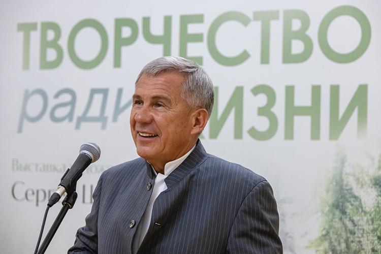 Рустам Минниханов: «Он[Шойгу]талантливый человек, человек уникальный, таких людей очень мало— это патриот страны, патриот своей родины»